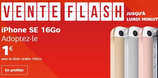 L'iPhone SE à 1 euro avec la série limitée SFR 100Go à saisir rapidement
