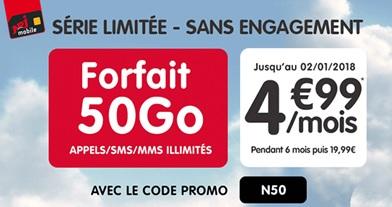 La Série Limitée 50Go à 4.99 euros s'achève bientôt chez NRJ Mobile