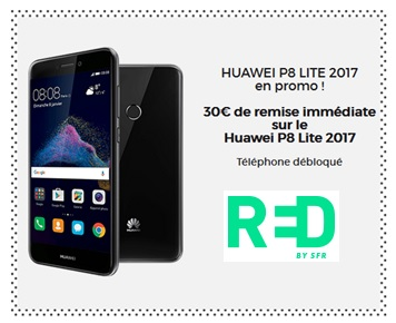 huawei p8 lite 2017, red by sfr