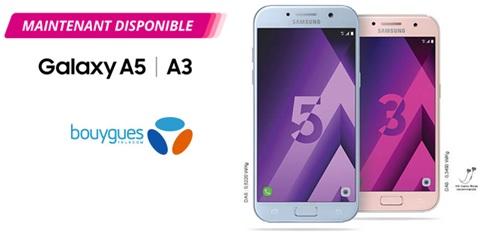 Samsung Galaxy A3 - A5 (2017) : Maintenant disponibles chez Bouygues Telecom !
