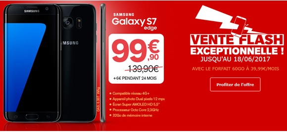 le samsung galaxy s7 edge en vente flash chez la poste mobile. Black Bedroom Furniture Sets. Home Design Ideas