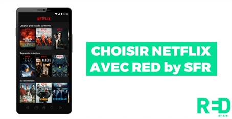 RED by sfr, netflix, opérateur mobile