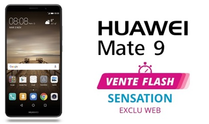 vente flash, huawei mate 9, bouygues telecom