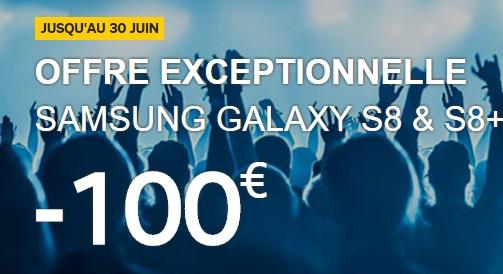 Galaxy S8 : profitez d'une remise exceptionnelle de 100 euros avec l'opérateur SFR (SOLDES ETE 2017)