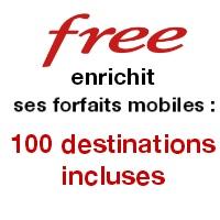 Free fait évoluer ses forfaits mobiles : 100 destinations internationales incluses !