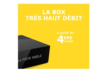 la poste mobile, box, fibre