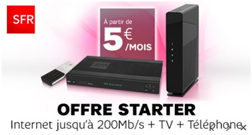 la box starter de sfr 5 mois en vente priv e. Black Bedroom Furniture Sets. Home Design Ideas