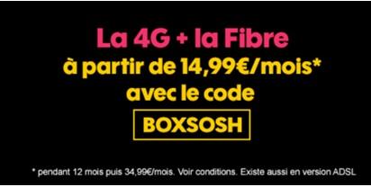 Derniers jours pour profiter du bon plan Sosh mobile + Livebox (15 euros de remise par mois)