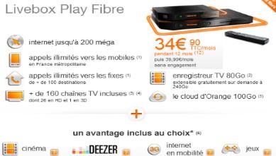 orange lance les nouvelles offres adsl avec la livebox play. Black Bedroom Furniture Sets. Home Design Ideas
