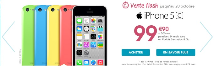 iphone 5c en vente flash chez bouygues telecom avec un. Black Bedroom Furniture Sets. Home Design Ideas