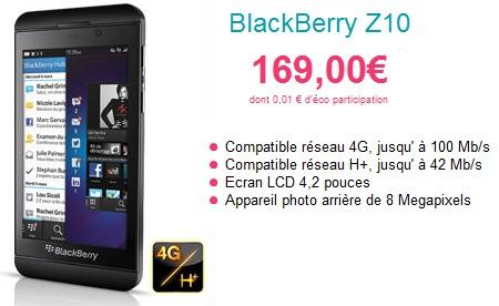 Bon plan sosh baisse le prix du blackberry z10 for Photo ecran blackberry z10