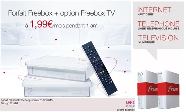 vente priv e la freebox crystal pendant 1 an. Black Bedroom Furniture Sets. Home Design Ideas