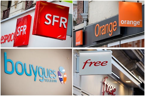 orange, sfr, bouygues telecom, free