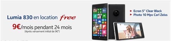 Le nokia lumia 830 9 par mois chez free mobile - Acheter telephone portable payer en plusieur fois ...