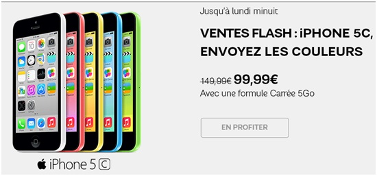 L iphone 5c 8go en vente flash chez sfr jusqu ce soir minuit - Canalplay com multiecrans ...