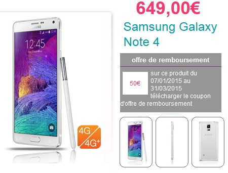 coupon remboursement samsung galaxy note 4