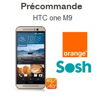 nouveau htc one m9 en precommande chez Orange et Sosh