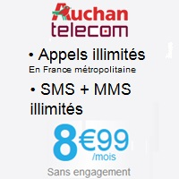 Auchan Telecom : Forfait 24/24 sans engagement � 8.99�