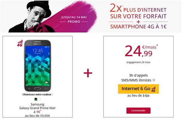 Le Samsung Galaxy Grand Prime en promo chez Virgin Mobile a 1e au lieu de 59.99e !...