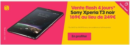 Ventes flash le sony xperia t3 et l iphone 5c en promo chez sosh - Vente flash telephone ...