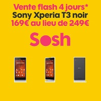 nouvelle vente flash sosh le sony xperia t3 en promo 169 au lieu de 249. Black Bedroom Furniture Sets. Home Design Ideas