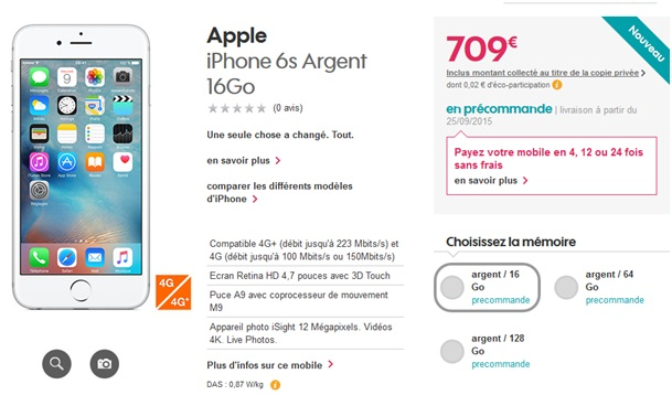 prix iphone sans abonnement iphone 6 orange free sfr bouygues quel op rateur le les prix de l. Black Bedroom Furniture Sets. Home Design Ideas