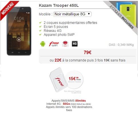 Kazam Trooper 450L à 79€ chez Free Mobile