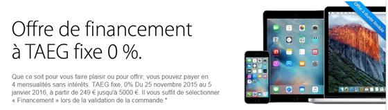 Iphone apple financez votre achat en 4 fois sans frais jusqu au 5 janvier 2016 - Achat telephone en plusieurs fois ...