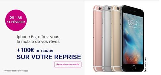 iphone 6 iphone 6s bouygues telecom vous offre 100 de bonus sur votre reprise. Black Bedroom Furniture Sets. Home Design Ideas