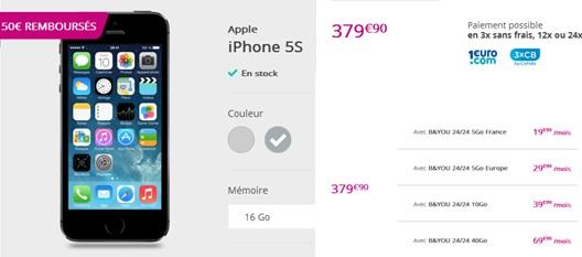 iPhone5s-promo-forfaitsansengagement-bouyguestelecom