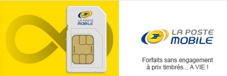 carte sim la poste mobile Vente privée La Poste Mobile : Des offres sans engagement à prix