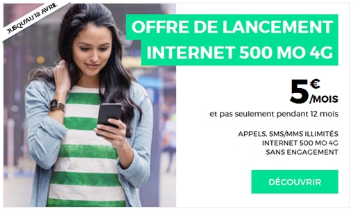 Offre RED 5€ 500Mo