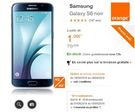 Samsung S6 Orange