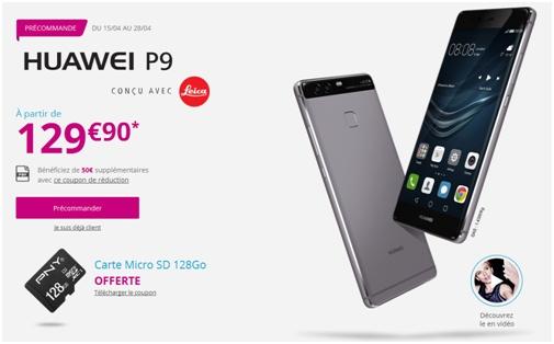 Huawei P9 Bouygues Telecom