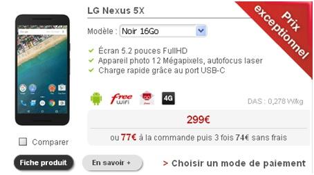 Nexus 5X Free Mobile