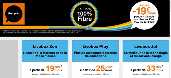 orange internet la fibre en promo partir de euros. Black Bedroom Furniture Sets. Home Design Ideas