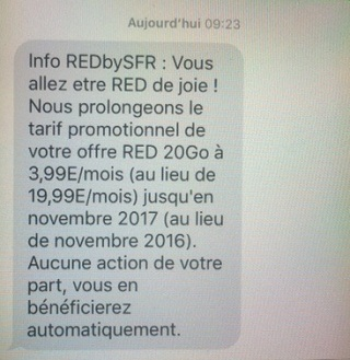 SMS promo RED