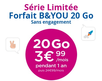 B&YOU 20Go Bouygues Telecom