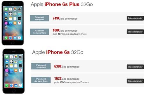 iphone 6s ou iphone 6s plus la nouvelle version 32go est. Black Bedroom Furniture Sets. Home Design Ideas