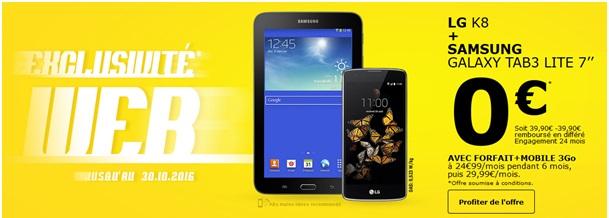 Lg k8 tablette samsung galaxy tab3 lite 7 offerts chez la poste mobile - Pack office tablette samsung ...