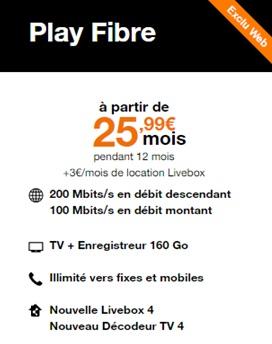 Offre Play Fibre Orange