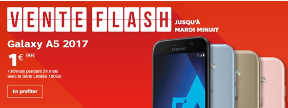 Le Samsung Galaxy A5 2017 en vente flash à 1euro chez