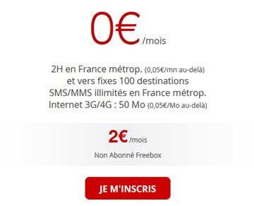 forfait free 2 euros depuis l angleterre