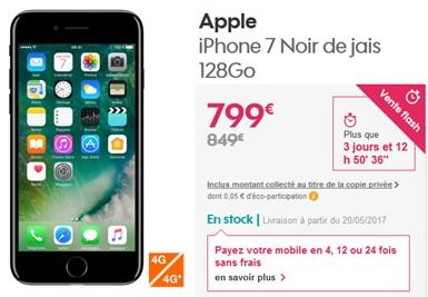 vente flash 50 euros de remise imm diate sur l iphone 7 chez sosh. Black Bedroom Furniture Sets. Home Design Ideas