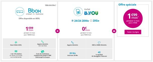 Bbox + Mobile Bouygues Telecom