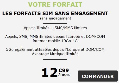 Forfait SIM La Poste Mobile
