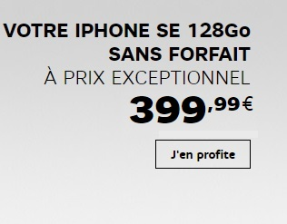 bonne affaire l 39 iphone se 128go 400 euros sans abonnement chez sfr ou avec un forfait red. Black Bedroom Furniture Sets. Home Design Ideas