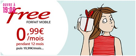 free mobile, vente privée, forfait