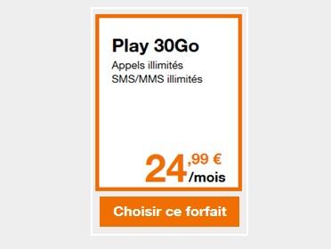 forfaits play 30Go