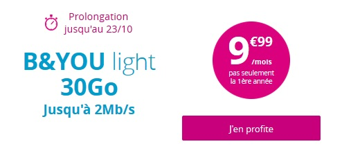 Série Spéciale B&YOU Light 30Go